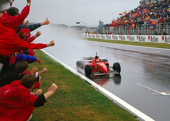 Michael Schumacher, Ferrari, 1996 Spanish GP