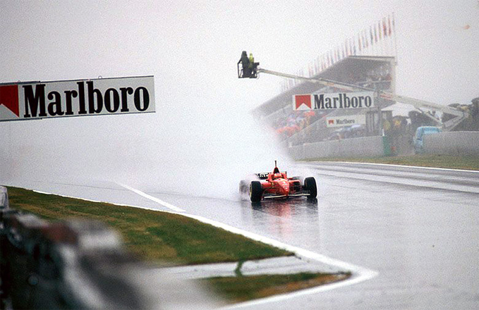 Michael Schumacher, Scuderia Ferrari, at the 1996 Spanish GP