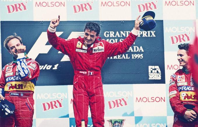 Jean Alesi, Rubens Barrichello, Eddie Irvine, 1995 Canadian GP