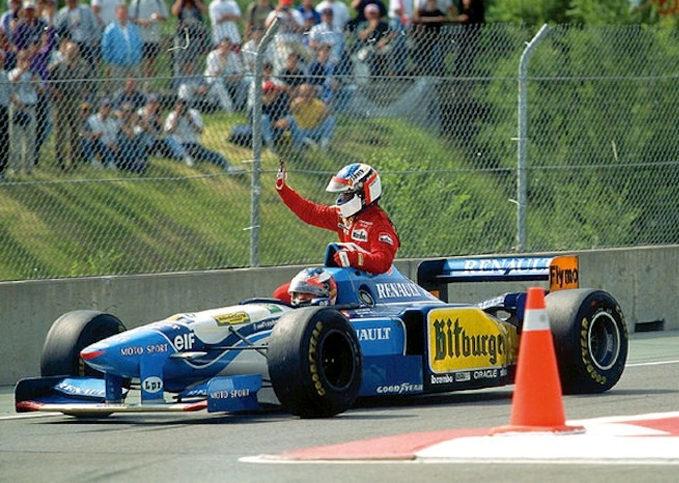 Jean Alesi, Michael Schumacher, 1995 Canadian GP