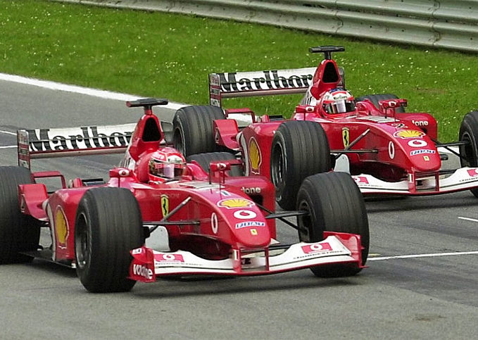 Michael Schumacher, Rubens Barrichello, Ferrari, 2001 Malaysian GP
