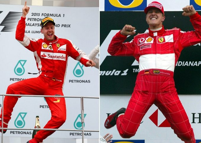 Sebastian Vettel, Michael Schumacher, Ferrari