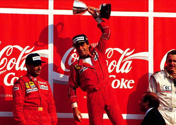 Gerhard Berger, Michele Alboreto, Ferrari