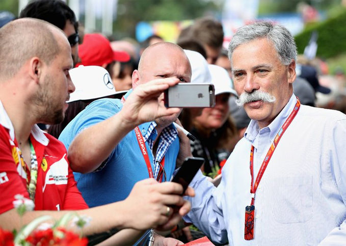 Chase Carey, chief executive of the Formula One Group