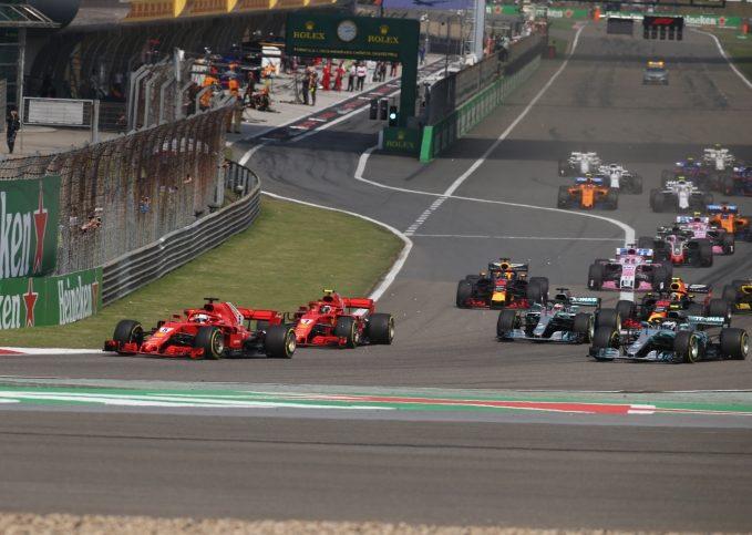 2018 Chinese GP start