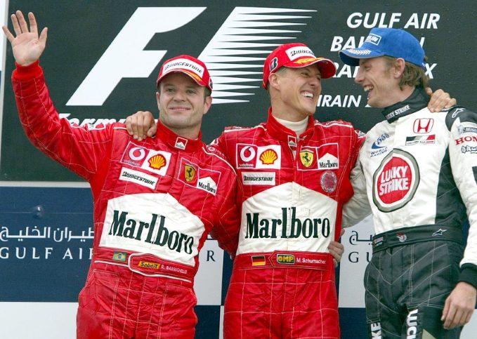 Michael Schumacher, Rubens Barrichello (2004 Bahrain Grand Prix)