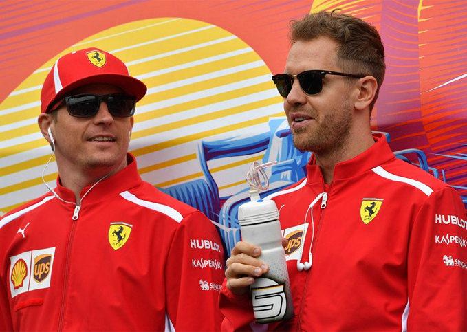 Kimi Raikkonen, Sebastian Vettel, Ferrari