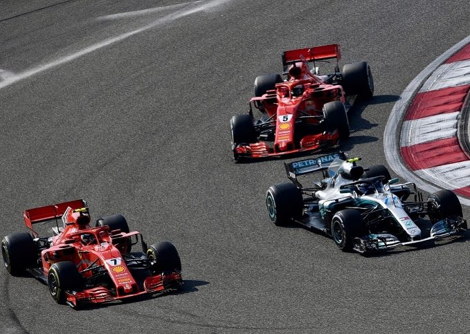 Sebastian Vettel, Kimi Raikkonen, Lewis Hamilton, Valtteri Bottas