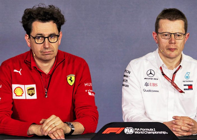 Mattia Binotto (Ferrari), Andy Cowell (Mercedes)