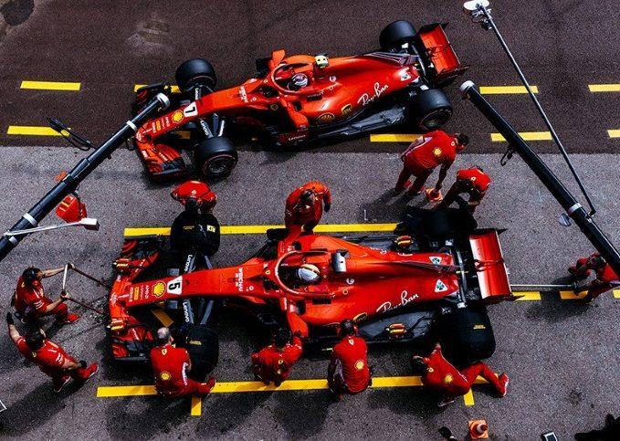 Sebastian Vettel, Kimi Raikkonen, SF71H, practice