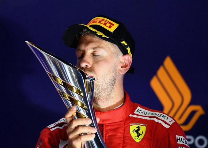 Sebastian Vettel, Ferrari, 2018 Singapore GP