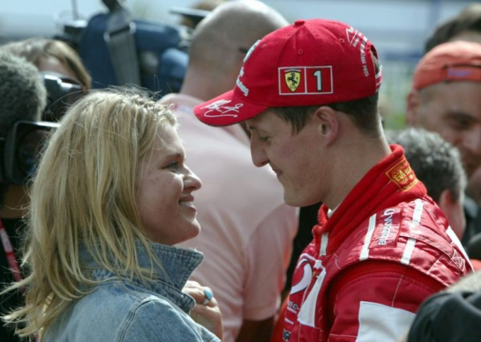 Corinna and Michael Schumacher