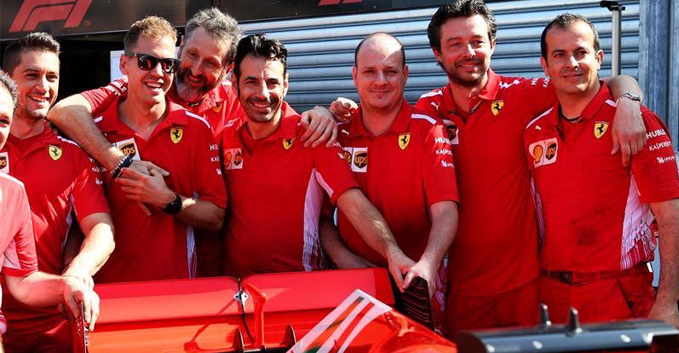 Sebastian Vettel, Ferrari, 2018