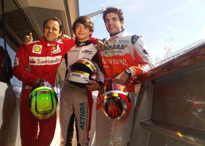 Felipe Massa, Charles Leclerc, Jules Bianchi