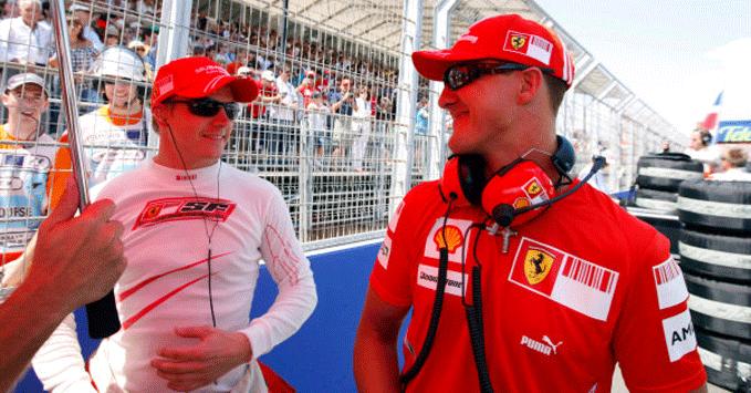 Kimi Raikkonen, Michael Schumacher, 2008