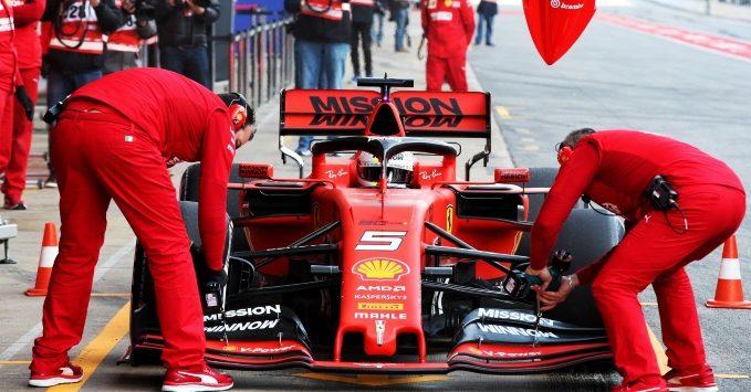 Sebastian Vettel, Ferrari, SF90, practice