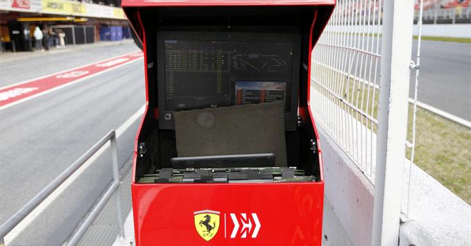Ferrari paddock 2019, practice