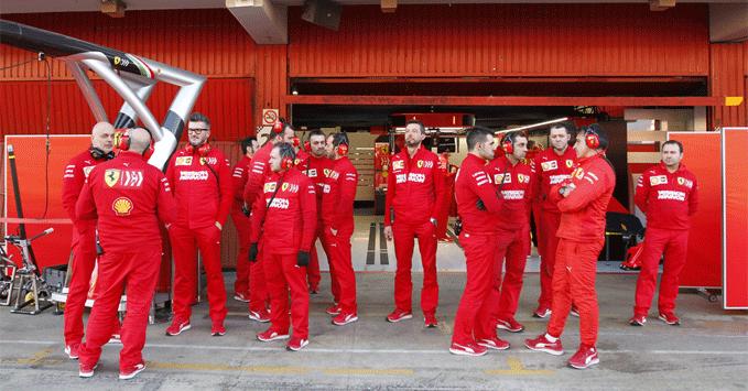Ferrari team members 2019, practice