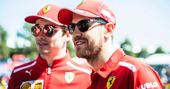 Sebastian Vettel, Charles Leclerc, Ferrari