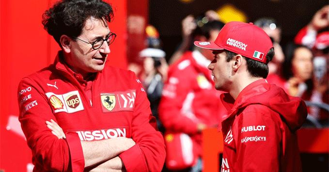 Mattia Binotto, Charles Leclerc, Ferrari