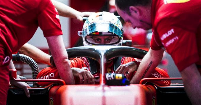 Sebastian Vettel, Ferrari, Practice