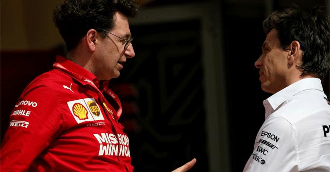 Mattia Binotto (Ferrari), Toto Wolff (Mercedes)