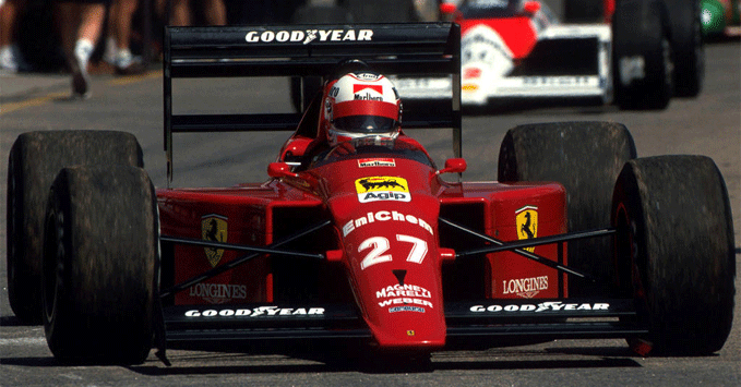 Watch Onboard With Nigel Mansell S Ferrari 640 For A Lap Of The Hockenheimring 1989 German Gp