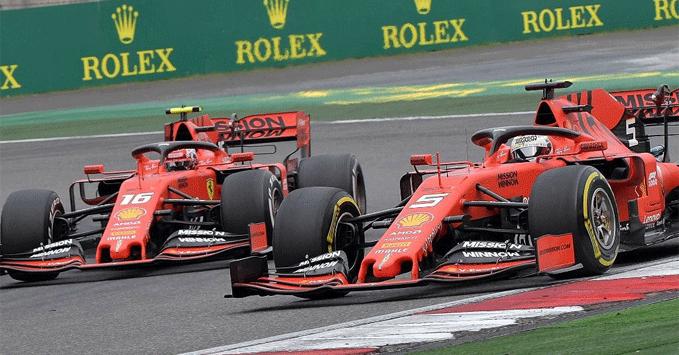 Charles Leclerc, Sebastian Vettel, Ferrari