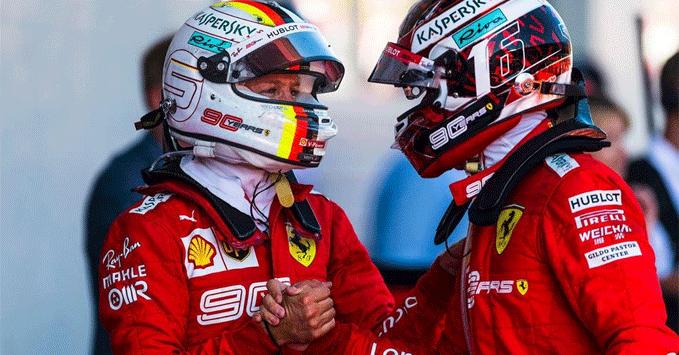 Sebastian Vettel, Charles Leclerc (Ferrari)
