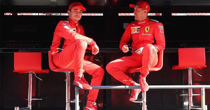 Sebastian Vettel, Charles Leclerc, Ferrari 2020